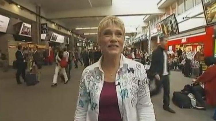Simone Héraut, la Voix-Off de la SNCF, novembre 2011 (Vidéo :Yacine Mili et David Levy / France 2)