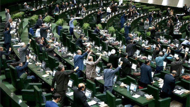 Le Parlement iranien mercredi 9 mai 2018. (AFP PHOTO / Islamic Consultative Assembly News Agency)
