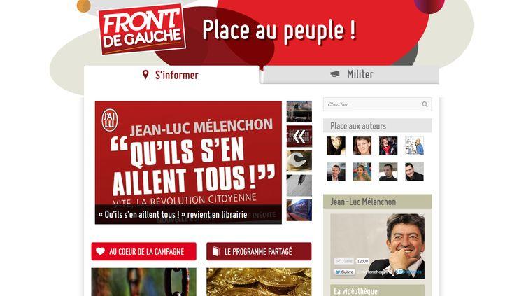 """Page d'accueil du site """"Place au peuple !"""" (DR)"""