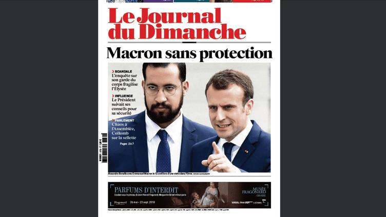 """Capture d'écran de la une du """"Journal du dimanche"""" le 22 juillet 2018. (LE JDD)"""