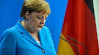 La chancelière allemande, Angela Merkel, lors d'une cérémonie à Berlin, la capitale allemande, le 10 juillet 2019. (TOBIAS SCHWARZ / AFP)