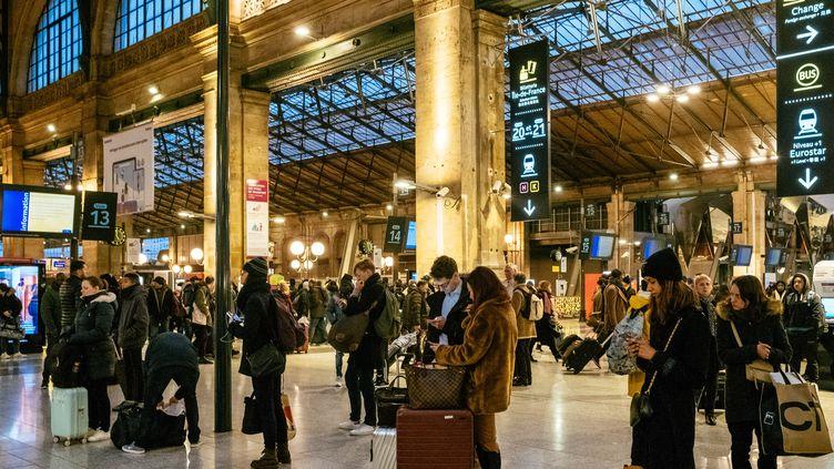 La gare du Nord, à Paris, le 2 janvier 2020. (MATHIEU MENARD / HANS LUCAS / AFP)