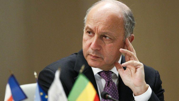 Le ministre des Affaires étrangères, Laurent Fabius, participe à une conférence sur le Mali, le 19 mars 2013 à Lyon. (ROBERT PRATTA / REUTERS)