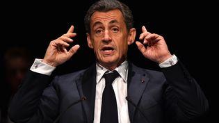Nicolas Sarkozy candidat à la primaire de la droite et du centre (JEAN-FRANCOIS MONIER / AFP)