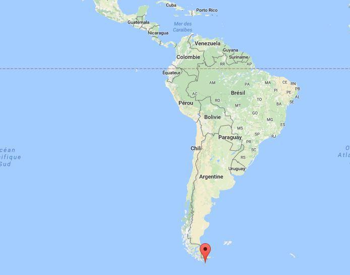 Le cap Horn est situé à l'extrémité sud de l'archipel chilienne de la Terre de Feu. (GOOGLE MAPS)