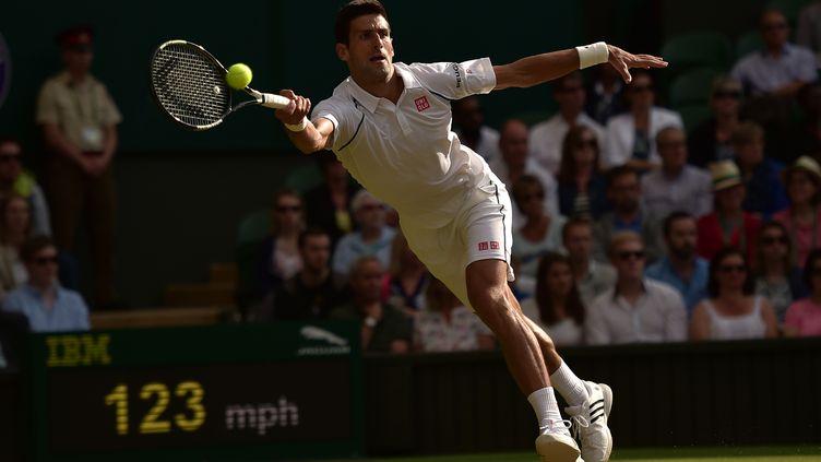 Novak Djokovic a déroulé face à Marin Cilic (LEON NEAL / AFP)