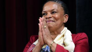 L'ex-ministre de la Justice, Christiane Taubira, le 29 janvier 2016 à New York. (JEWEL SAMAD / AFP)