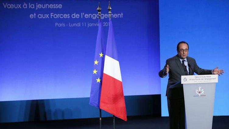 (François Hollande a adressé ses vœux à la jeunesse et aux forces de l'engagement. © MaxPPP)