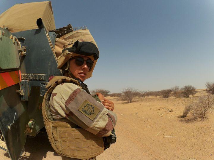 Laurène, médecin de l'armée sur le convoi militaire entre Menaka et Gao au Mali. Mai 2018. (ETAT-MAJOR DES ARMÉES)