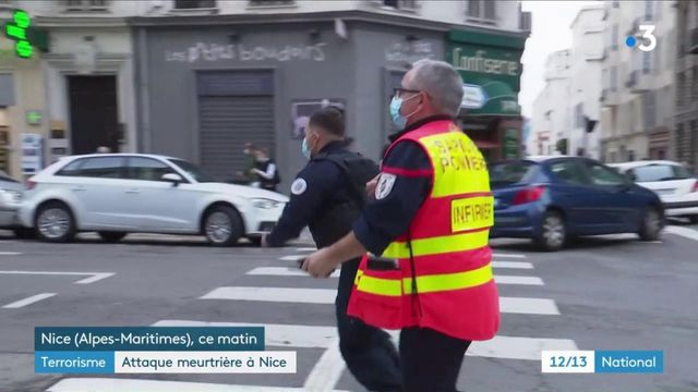 Attaque au couteau à Nice : trois morts, l'assaillant blessé