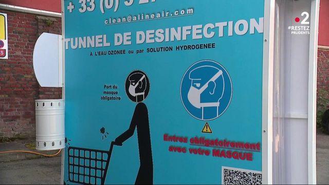 Déconfinement : des tunnels de désinfection bientôt à l'entrée des magasins ?
