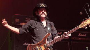 Lemmy Kilmister en concert avec Motörhead aux Etats-Unis le 22 septembre 2015.  (REX Shutterstock/SIPA)