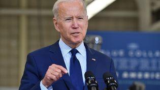Le président des Etats-Unis, Joe Biden, le 27 mai 2021 à Cleveland (Ohio). (NICHOLAS KAMM / AFP)