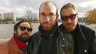 Gunnar Ellwanger, Jeff Preto et David Jarry-Lacombe, le trio parisien de Gunwood  (Culturebox - capture d'écran)