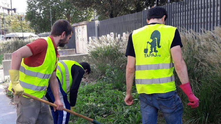 Des jeunes bénéficiant du dispositif Tapaj, à Lille en septembre 2018. (CELIA QUILLERET / RADIO FRANCE)