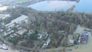 Le Seine en crue, vue du ciel (FRANCE 2)