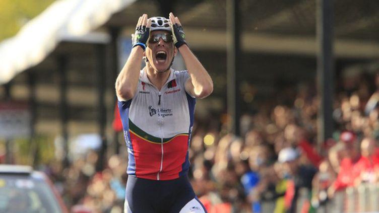 Rui Costa (Portugal) devient champion du monde sur route à Florence (LUK BENIES / AFP)