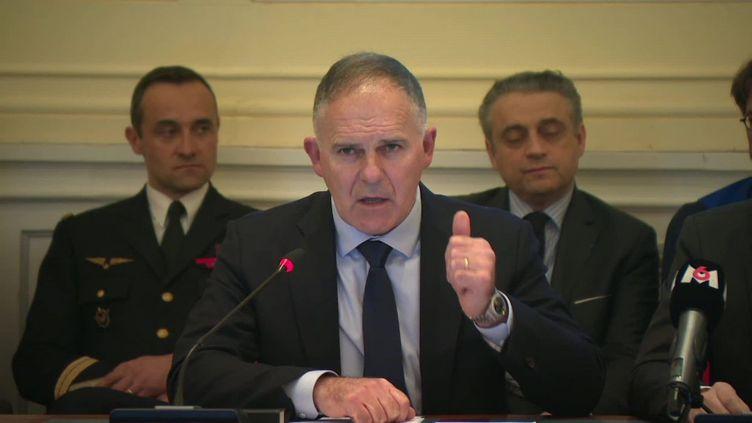 Le préfet de l'Oise Louis le France lors d'une réunion, le 29 février 2020, à Beauvais(Oise). (MANON LE CHARPENTIER / FRANCE TELEVISIONS)