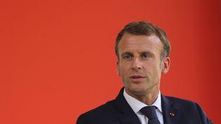 Le président français, Emmanuel Macron, lors de la cérémonie en mémoire des victimes du terrorisme, à Paris, le 19 septembre 2018. (LUDOVIC MARIN / AFP)