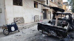 (Le signe de Daech à Palmyre en Syrie en mars 2016 (illustration)© SIPA/AP/ via SANA)