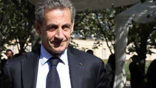 L'ancien président de la République Nicolas Sarkozy, lors d'une cérémonie d'hommage aux victimes du terrorisme, le 19 septembre 2018. (LUDOVIC MARIN / AFP)