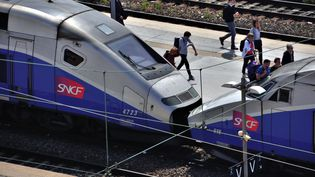 Des trains à l'arrêt à la gare Saint-Charles, à Marseille (Bouches-du-Rhône), le 28 mai 2018. (GERARD BOTTINO / CROWDSPARK / AFP)