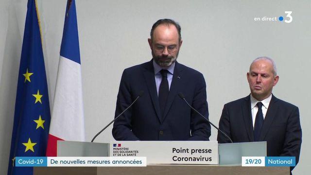 """Coronavirus : """"Tous les lieux recevant du public non indispensables à la vie du pays seront fermés"""", annonce le Premier ministre Édouard Philippe"""