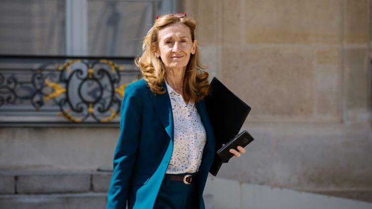 La ministre de la Justice, Nicole Belloubet, le 17 avril 2019 à l'Elysée. (MARIE MAGNIN / HANS LUCAS / AFP)