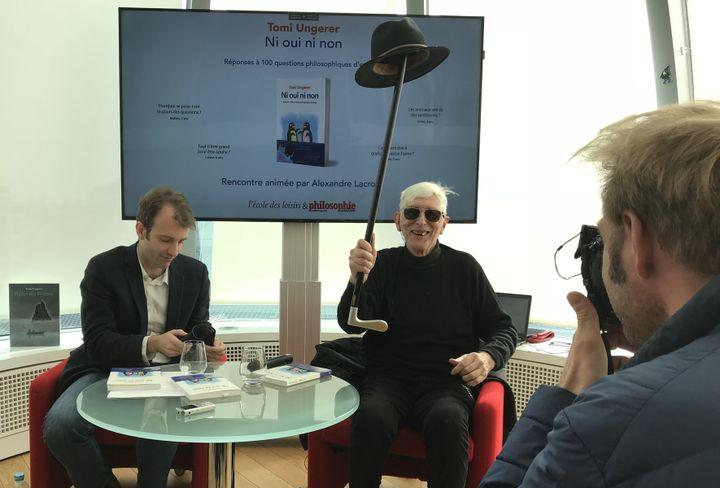 "Tomi Ungerer, conférence de presse ""Ni oui, ni non"", 20 mars 2018  (Laurence Houot / Culturebox)"