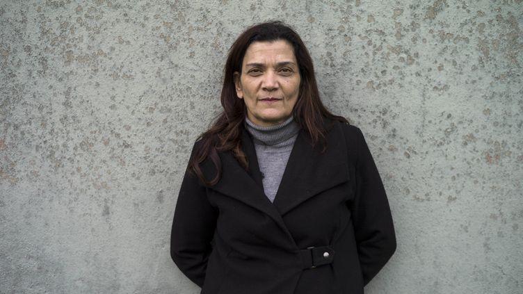 Nadia Remadna, fondatrice de la Brigade des mères à Sevran, en Seine-Saint-Denis. (YOAN VALAT / EPA)