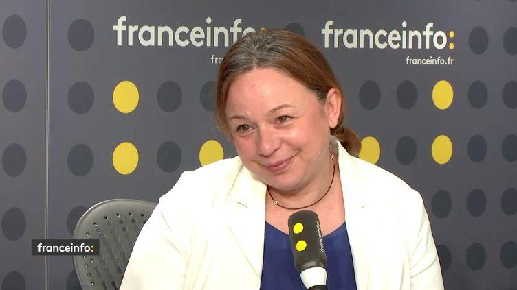 """Catherine Baratti-Elbaz, présidente du syndicat Autolib' Velib"""" Métropole et maire PS du 12e arrondissement de Paris, le 31 juillet 2018. (RADIO FRANCE / FRANCEINFO)"""