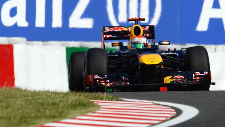L'Allemand Sebastian Vettel sur le circuit de Suzuka
