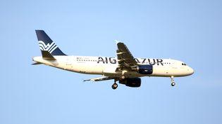 Un avion de la compagnie Aigle Azur à Saint-Louis (Haut-Rhin), le 4 août 2017. (MAXPPP)