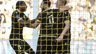 Les Niçois ont remporté une victoire importante à l'extérieur contre Nantes (2-0), dimanche 12 septembre 2021. (SEBASTIEN SALOM-GOMIS / AFP)