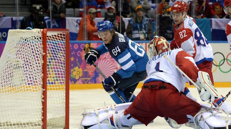 Mikael Granlund a inscrit le troisième but pour la Finlande (YURI KADOBNOV / AFP)
