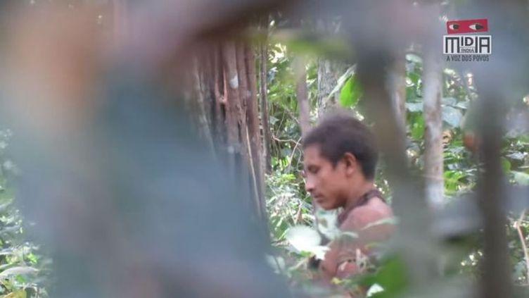 Image extraite de la vidéo du collectif de vidéastes indigènes Midia India.  (MIDIA INDIA)