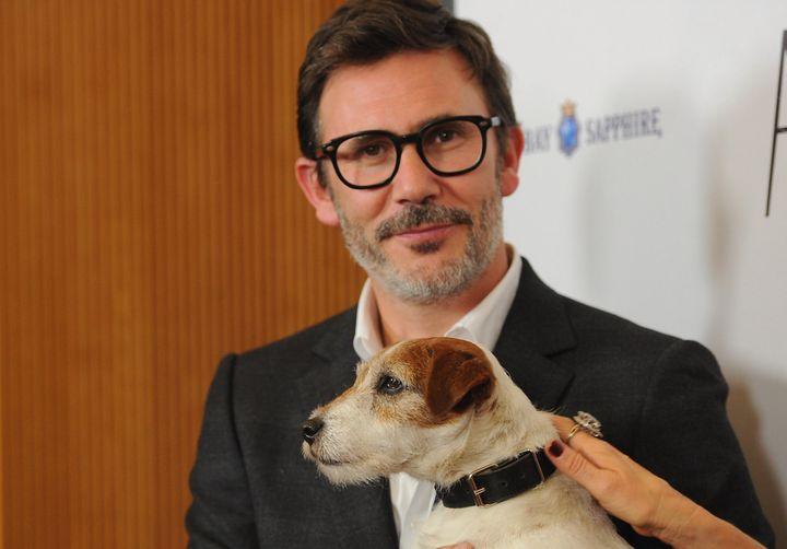 """Le chien Uggie avait reçu la Palm Dog en 2011 pour son rôle dans """"The Artist"""" de Michel Hazanavicius  (ALBERTO E. RODRIGUEZ / GETTY IMAGES NORTH AMERICA / AFP)"""
