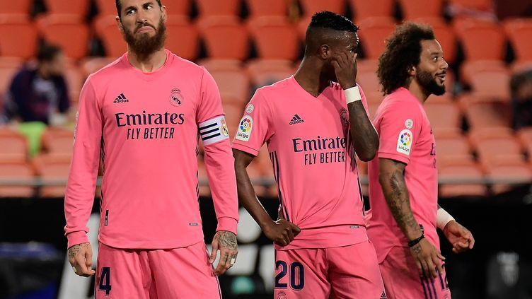 Les Madrilènes ont concédé quatre penaltys face à Valence ce dimanche (JOSE JORDAN / AFP)