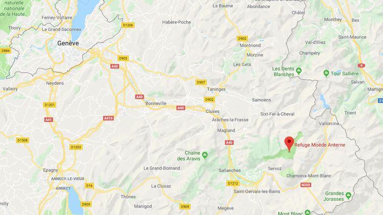 Le randonneur a été aperçu pour la dernière fois au refuge de Moëde Anterne près de Chamonix dans la nuit de jeudi 12 au vendredi 13 septembre. (CAPTURE D'ÉCRAN / GOOGLE MAPS)