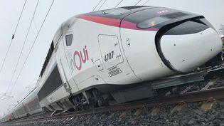 La locomotive d'un TGV reliantColmar-Strasbourg-Paris le 5 mars a déraillé en raison de l'affaissement d'un talus jouxtant la voie. (SNCF)