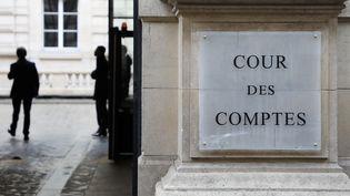 L'entrée de la Cour des comptes à Paris, le 22 janvier 2018. (LUDOVIC MARIN / AFP)