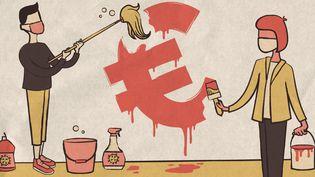 Des économistes demandent à ce que la dette contractée par la France soit effacée. (ELLEN LOZON / FRANCEINFO)