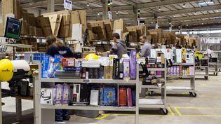 Le site Amazon de Chalon-sur-Saône (Saône-et-Loire), le 13 décembre 2012. (PHILIPPE MERLE / AFP)