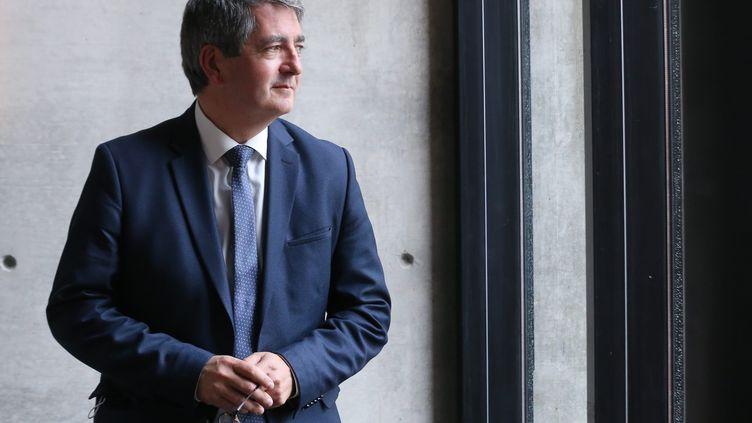 Jean Rottner, le président LR de la région Grand Est, le 30 avril 2021 à Mulhouse (Haut-Rhin). (MAXPPP)