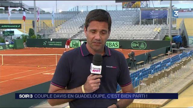Coupe Davis : la France mène 2-0 face au Canada