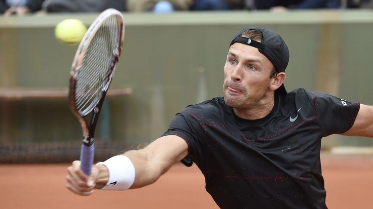 Le Polonais Lukasz Kubot à Roland-Garros, le 26 mai 2014. (DOMINIQUE FAGET / AFP)