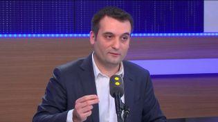 Florian Philippot, le 21 janvier 2017 sur franceinfo (FRANCEINFO)