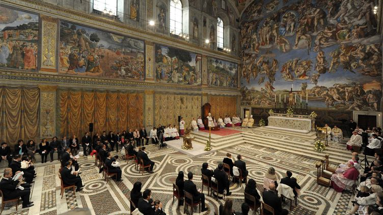 La chapelle Sixtine, au Vatican, filmée en janvier 2011. (GALAZKA / SIPA)