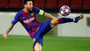 Lionel Messi, un footballeur aux pieds d'or. Saclose de transfert estde 700millions d'euros (photo d'illustration du 9 août 2020 à Barcelone en Espagne). (ENRIC FONTCUBERTA / MAXPPP)