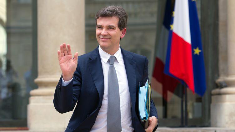 Le ministre du Redressement productif, Arnaud Montebourg, le 1er août 2012 à l'Elysée. (BERTRAND LANGLOIS / AFP)